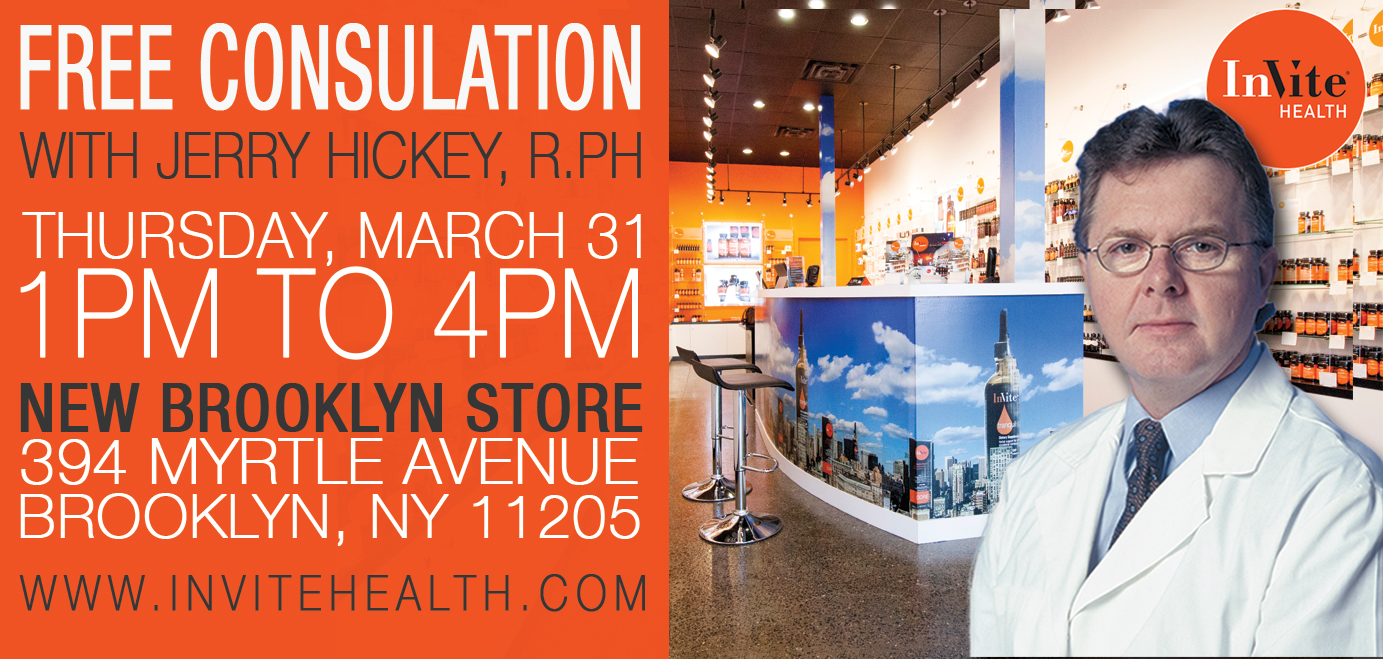 Free Consultation with Jerry Hickey at InVite's NEW Brooklyn Store!