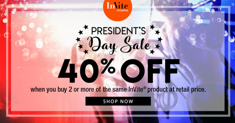 40% Off President's Day Sale!