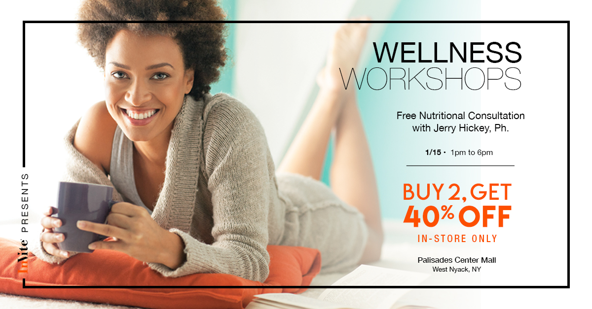 Wellness Workshops with Jerry Hickey, Ph. at the Palisades Center in NY