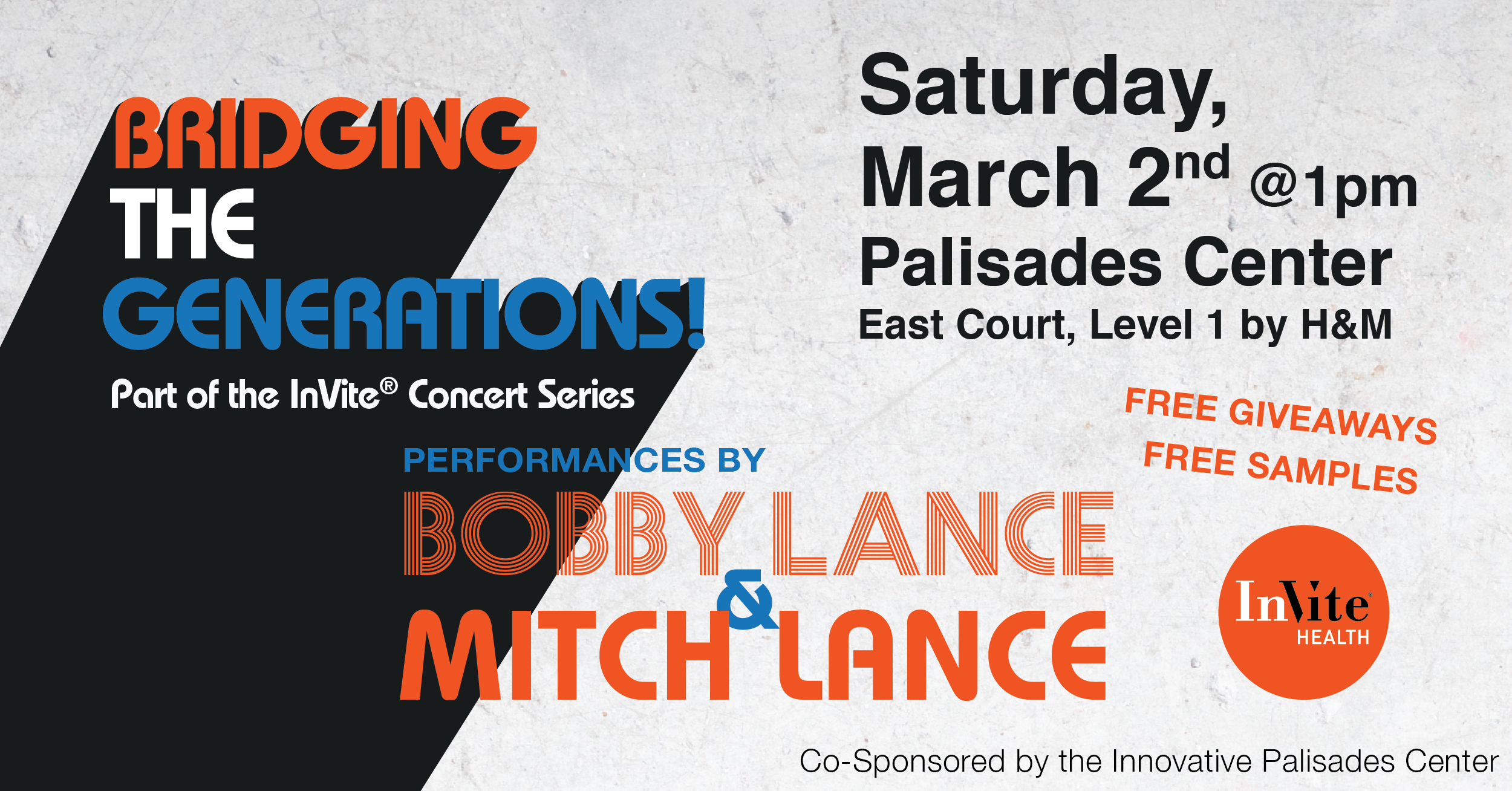 Introducing: InVite® Concert Series at the Palisades Center