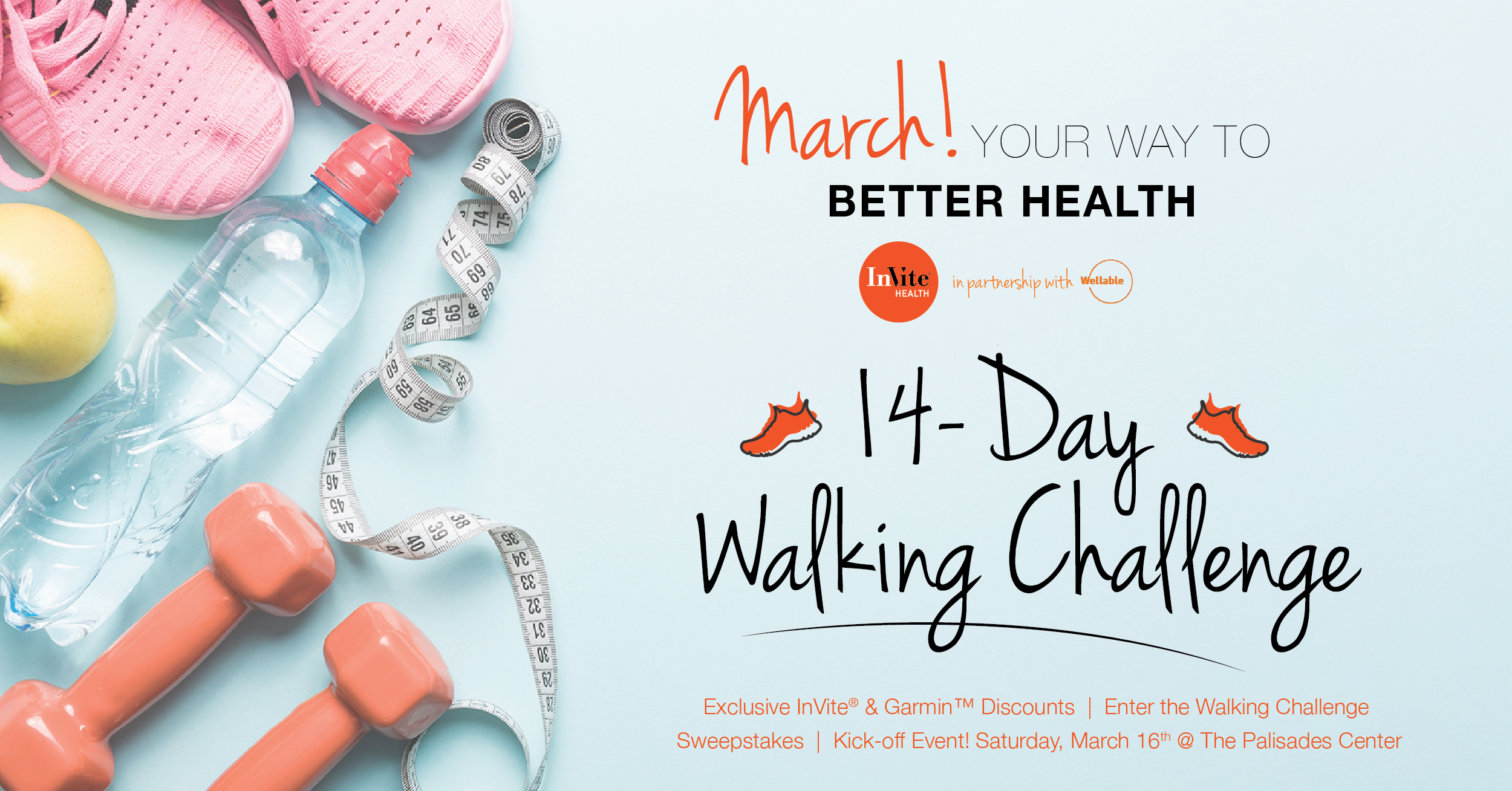 We Challenge You to Join The InVite® 14-Day Walking Challenge!