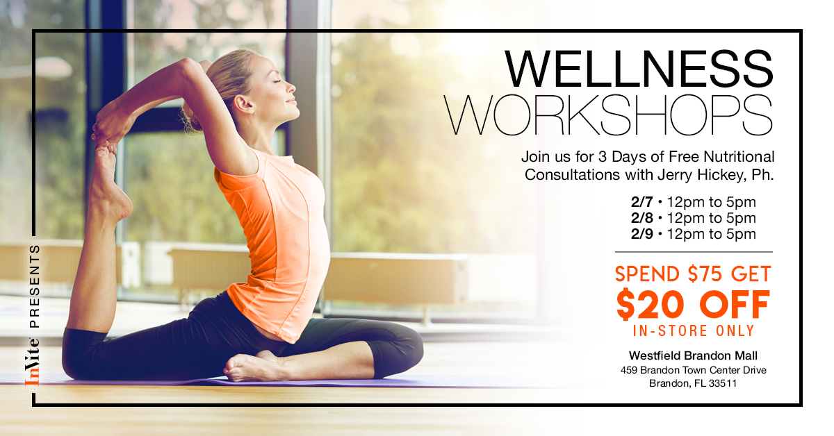 Jerry's Wellness Workshop: Free Nutritional Consultation in Brandon, Florida!