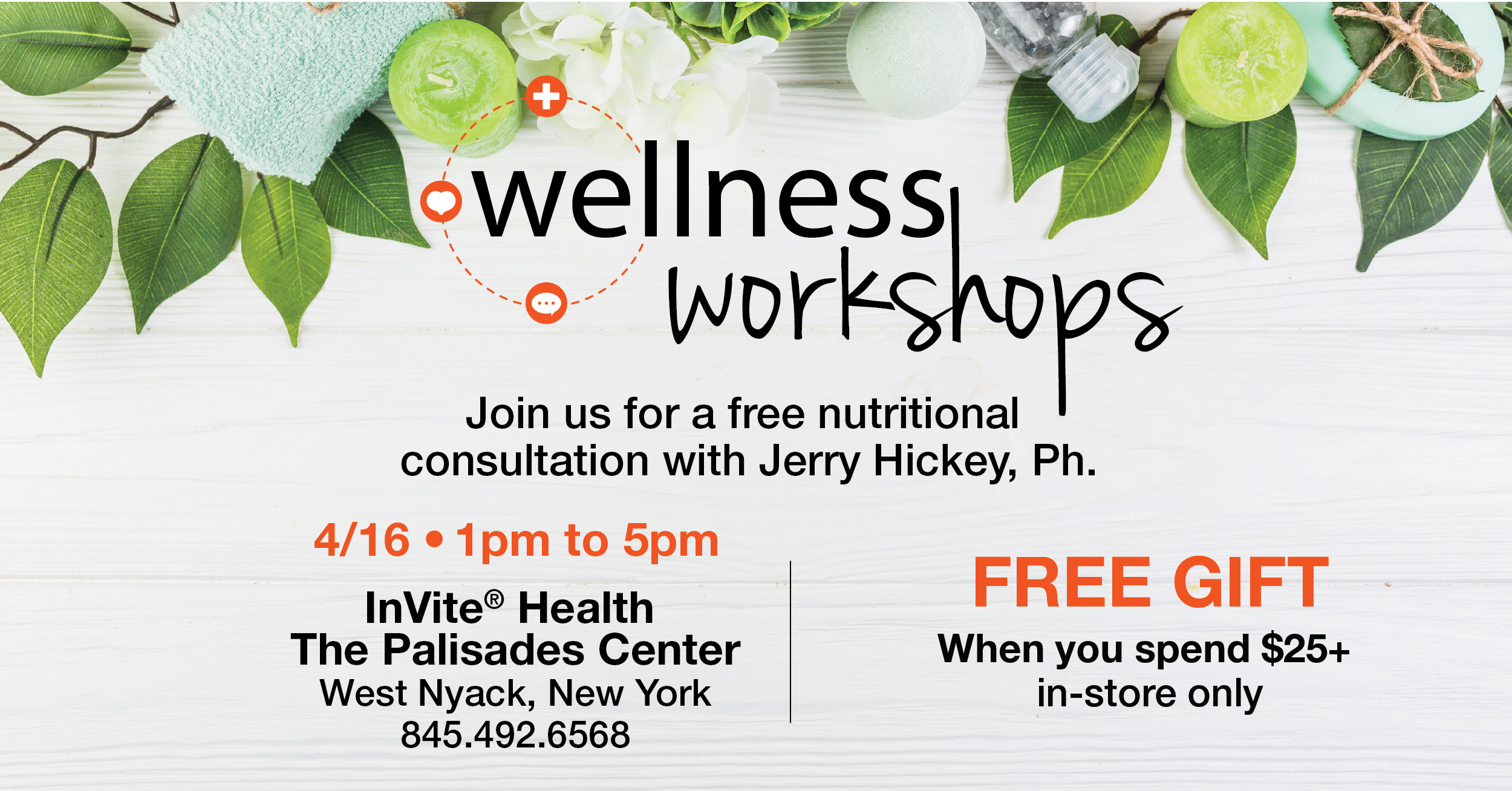 Free Nutritional Consultation with Jerry Hickey at the Palisades Center