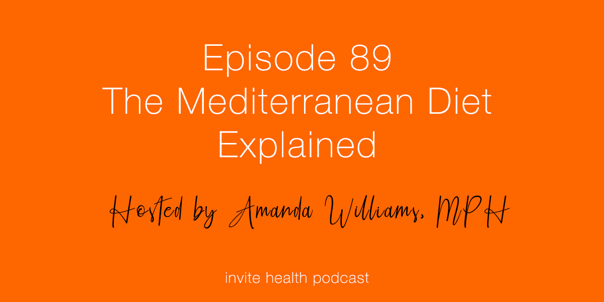 The Mediterranean Diet Explained – Invite Health Podcast, Episode 89
