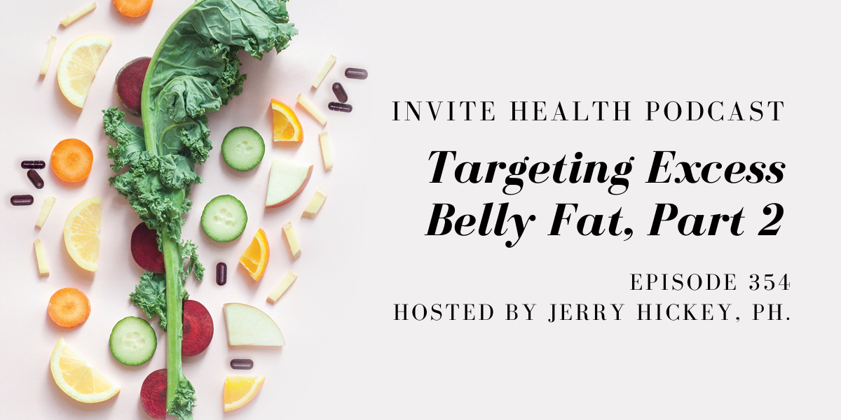 Targeting Excess Belly Fat, Part 2 – InVite Health Podcast, Episode 354