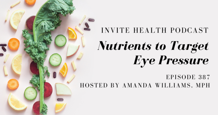 Nutrients to Target Eye Pressure – InVite Health Podcast, Episode 387